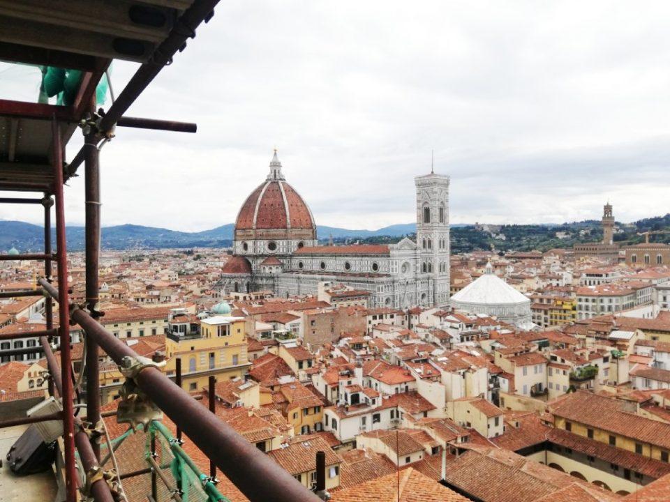 Restauro Campanile San Lorenzo - Vista sulla città